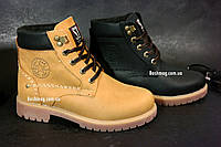 Кожаные зимние подростковые ботинки в стиле Timberland  35-39 размер, 2 цвета