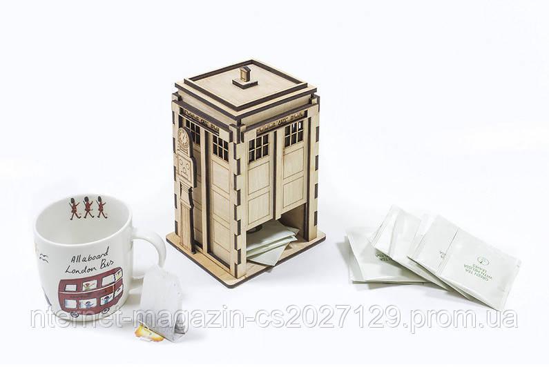 Полицейская будка для чайных пакетов (под декупаж)