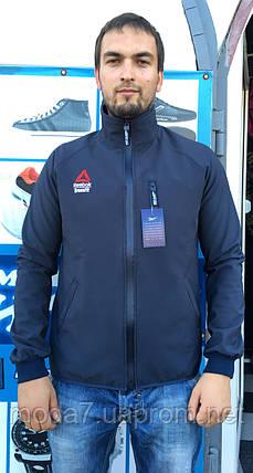 Куртка - ветровка мужская синяя Reebok реплика, фото 2