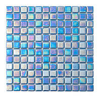 Мозаика стеклянная перламутр PL25302 sky blue
