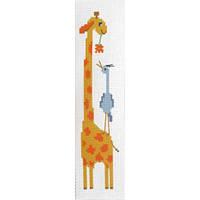 """Канва с рисунком для вышивки крестом  """"Закладка для книг """"Жираф"""""""
