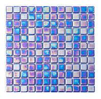 Мозаика стеклянная перламутр PL25302  blue