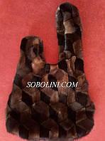 """Стильная сумка из натурального меха норки, стиль """"японский узел"""", фото 1"""