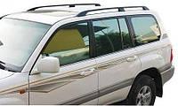 Рейлинги Toyota Land Cruiser 100 (1998-2006) Черные