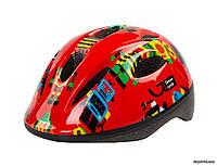 Шлем Green Cycle Robots, 50 - 54 см, красный