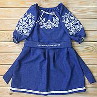 Вишите плаття для дівчинки на короткий рукав, фото 1