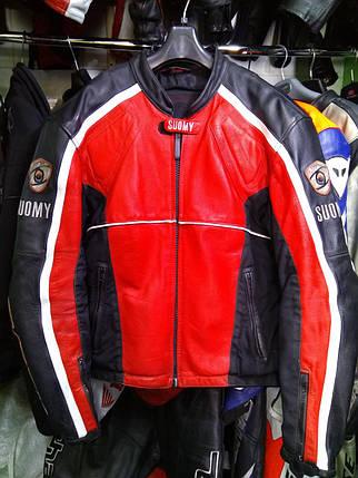 Мотокуртка бу кожа SUOMY, фото 2