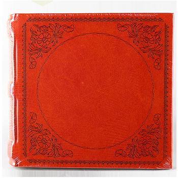 Фотоальбом из кожзама красного цвета на 200 фото Декор , фото 2