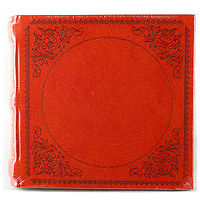 Фотоальбом из кожзама красного цвета на 200 фото Декор