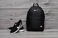 Рюкзак городской спортивный, для ноутбука, мужской, женский, черный
