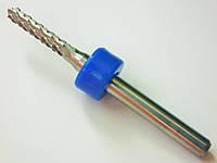 Твердосплавная фреза 2,4 мм для ЧПУ (CNC) станков, для стандартного раскроя (кукуруза), хвостовик: 3.175 мм