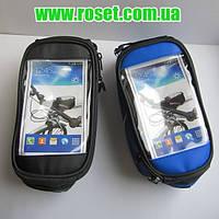 Велосипедная сумка (сумка на раму велосипеда) с держателем для смартфона GA-501