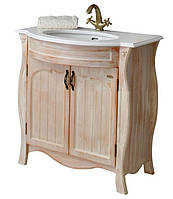 Тумба для ванной с умывальником Ривьера apricot Ольвия