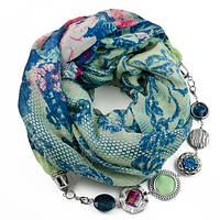 Котоновый шарфик с бижутерией Нежность