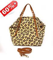 Borsa cortesia - Леопардовая кожаная сумочка. Производства Италии.
