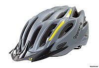 Шлем Green Cycle Rock, 54 - 58 см, серо-желтый