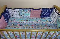 Бортики в кроватку морской бриз