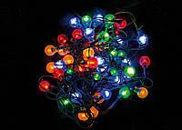 """Электрогирлянда светодиодная """"Шарики"""" ,48 ламп,многоцв.,2,4м.,прозр.пров,8 реж.миг."""