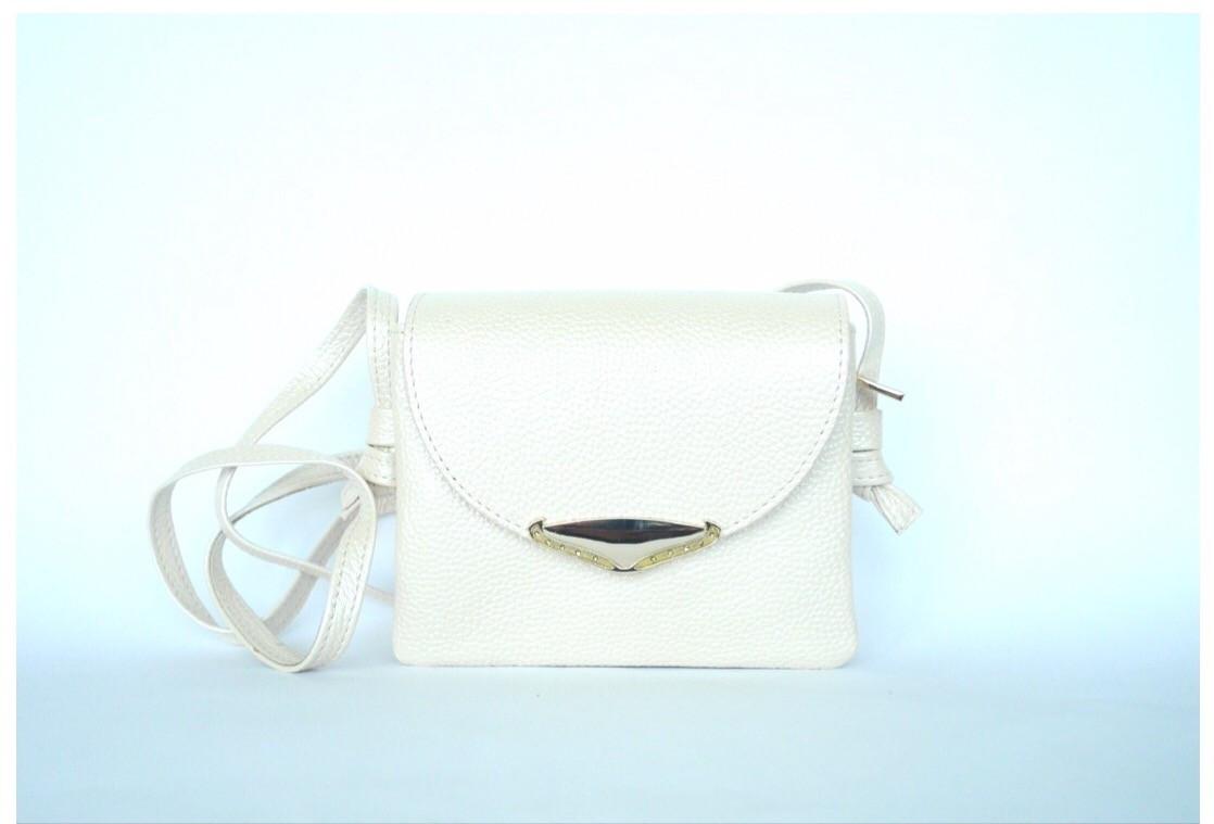 f16e370201ce Borsa petite (cream) - Маленькая кожаная сумочка-кошелек кремового цвета .  -