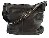 Borsa Papavero (cofe) - Кофейная большая классическая сумка из натуральной кожи