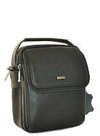 """Catasto (black) - Черная мужская сумка """"через плечо"""""""""""""""