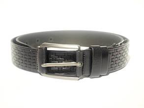 Классический черный кожаный ремень S_Torri 0133к/2 - Классическийчерный кожаный ремень 35 мм