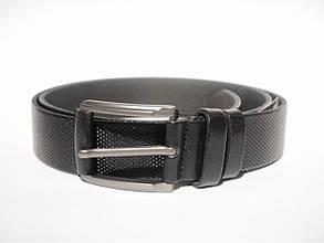 Классический черный кожаный ремень S_Torri 0133к/3 - Классическийчерный кожаный ремень 35 мм