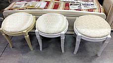 Банкетка круглая Микс мебель, цвет темный орех / махонь, фото 3