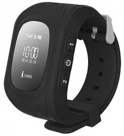Kids Smart Watch Q50 с GPS трекером (Чёрные) умные детские часы Kid Baby