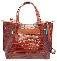 Borsa Assicella - Коричневая кожаная сумка с зажимом.
