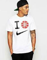 Брендовая футболка Nike, найк, мужская/женская с прикольным принтом КП397