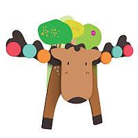 Настенная игрушка Oribel  Veritiplay Лось Гуфи, деревянные игрушки
