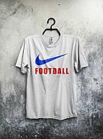 Брендовая футболка Nike, мужская, белая футболка найк КП405