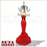 Подставка под бижутерию Леди в красном платье