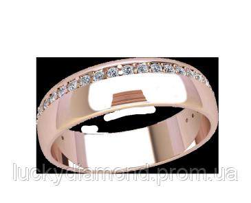 Обручальное кольцо с цирконами