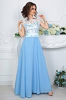 """Женственное вечернее платье с легкой длинной юбкой """"Vidi-Alle"""" 2P/GA-3609"""