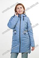 Куртка с капюшоном голубая КАРЛА