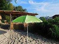 """Пляжный зонт с наклоном 1.8 м - """"MAGs"""" Anti-UV салатовый зонтик садовый"""