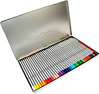 Карандаши акварельные цветные Raffaine (36 цвета) + кисточка