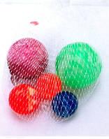 Мячи W02-3184 попрыгунчики набор 5шт.в сетке /200/