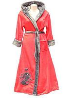 Халат микрофибра вышивка женский длинный XXL 52-54
