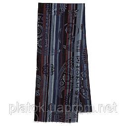 10370-15 кашне мужское, павлопосадский шарф (кашне) шерстяной (разреженная шерсть) с осыпкой
