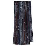10370-15 кашне мужское, павлопосадский шарф (кашне) шерстяной (разреженная шерсть) с осыпкой, фото 2