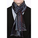 10370-15 кашне мужское, павлопосадский шарф (кашне) шерстяной (разреженная шерсть) с осыпкой, фото 4