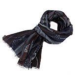 10370-15 кашне мужское, павлопосадский шарф (кашне) шерстяной (разреженная шерсть) с осыпкой, фото 5