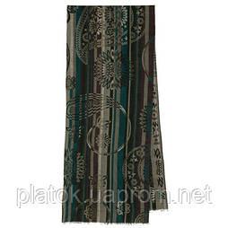 10370-10 кашне мужское, павлопосадский шарф (кашне) шерстяной (разреженная шерсть) с осыпкой