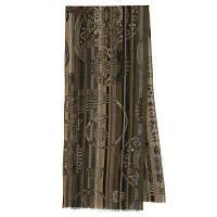 10370 кашне мужское разреженная шерсть 10370-2, павлопосадский шарф (кашне) шерстяной (разреженная шерсть) с осыпкой, фото 1