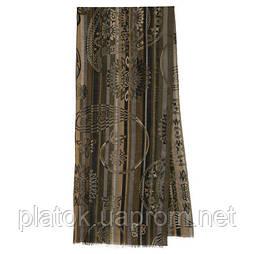 10370-2 кашне мужское, павлопосадский шарф (кашне) шерстяной (разреженная шерсть) с осыпкой