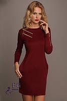 """Платье трикотажное """"Flirt"""": распродажа модели бордо, 46"""
