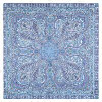 Восточное путешествие 1566-13, павлопосадский платок (шаль) хлопковый (саржа) с подрубкой   Первый сорт
